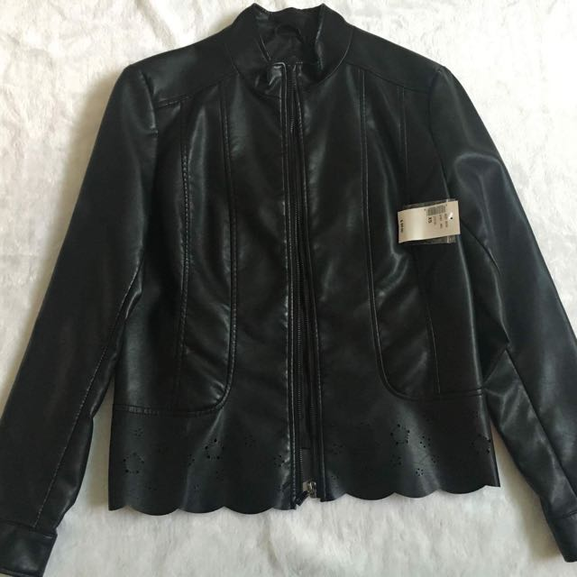 Women's Faux Leather Jacket BNWT