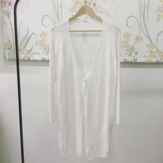 針織白色外套