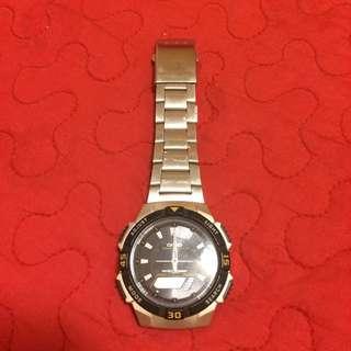 正品_casio卡西歐銀色手錶