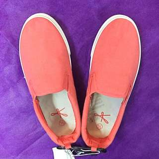 *New* Coral Slip-Ons
