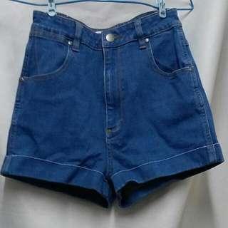 🈹$89 美牌 Wrangler 復古風 深藍 牛仔熱褲