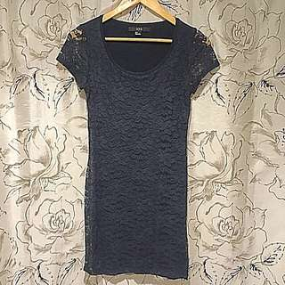 Forever 21 Navy Lace Minidress