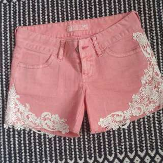 Guess Denim Lace Shorts