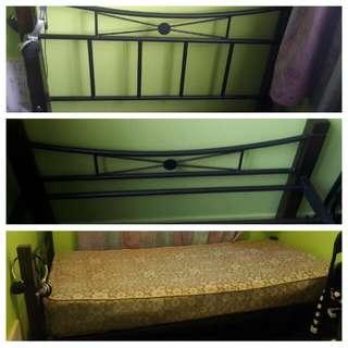 Single Bed frame + Mattress