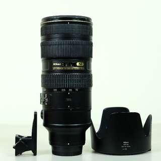 Nikon 70-200mm f/2.8G ED VRII
