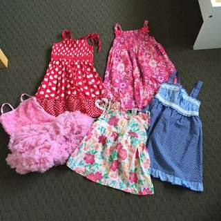4 X Girl Dress And 1 Top