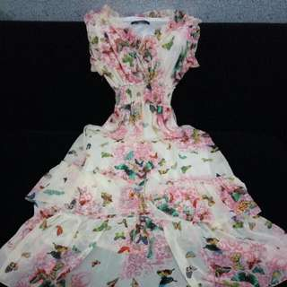 Layer Butterfly Dress