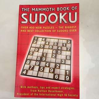 Sudoku Puzzle Book With >400 Puzzles