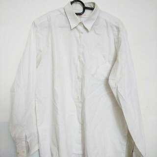 Boyfriend Shirt Plain White