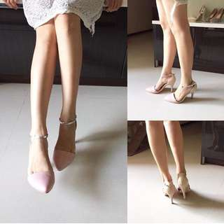 Gracegift 粉色高跟鞋