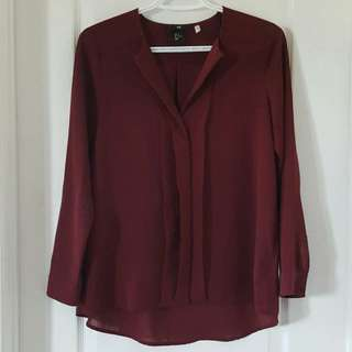 H&M Maroon Button-Up