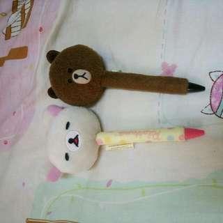 拉拉熊+熊大的筆