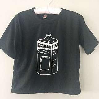 crop top black shirt