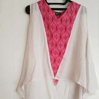 high low tribal blouse