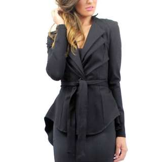 Brand New Black Jacket With Bustle