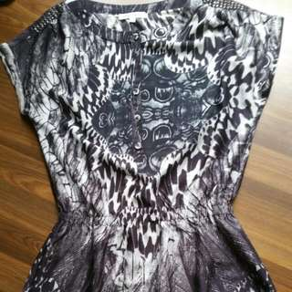 Brand New Studded Printed Dress