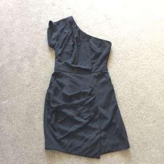 One Shoulder Dress, Warehouse, Size 8