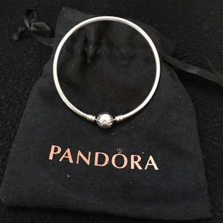 Pandora Bangle, Limited Edition With Bow Clasp