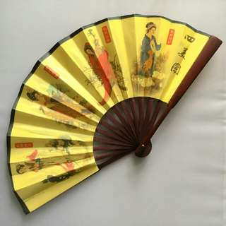 Antique Chinese Foldable Hand Fan