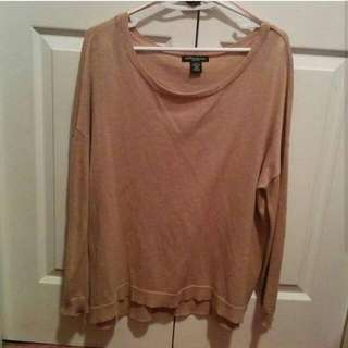 Beige Loose Sweater