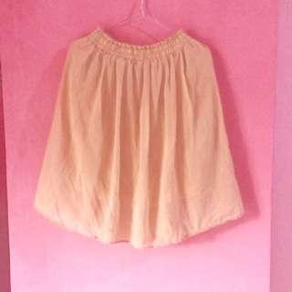 Cream Chiffon Skirt