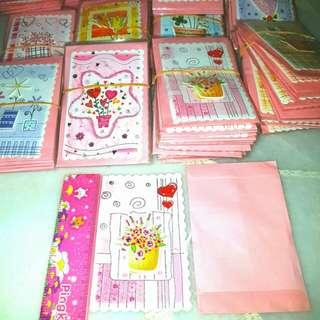 5pcs Glittering Greeting Cards