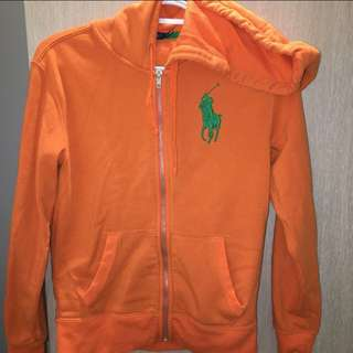 RALPH LAUREN • Orange Zipper Jacket • Size Small
