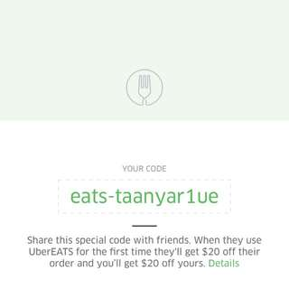 FREE FOOD Uber eats code