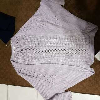 Lilac Knitted Cardigan