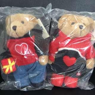 BNWT Hang Ten Valentine's Day Couple Bear