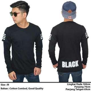 Long Shirt Black Distro