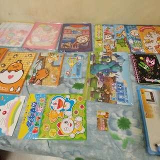 Doraemon 蛋黃哥 Little Twin Stars 大口仔 布丁狗 MU 鬆弛熊 一連串文具