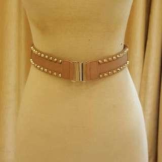 Nude Studded Belt