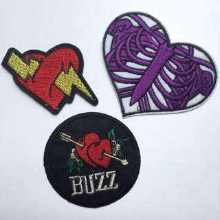 💘 Heart Iron On Patches