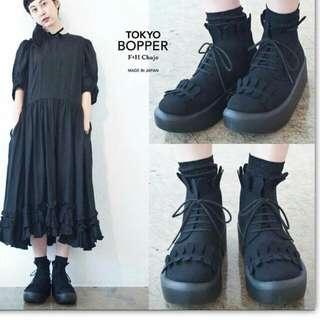Tokyo Bopper 仿款 黑色 厚底鞋 日系 日牌 軟妹 Wego 原宿
