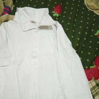 Baju Bayi White Shirt