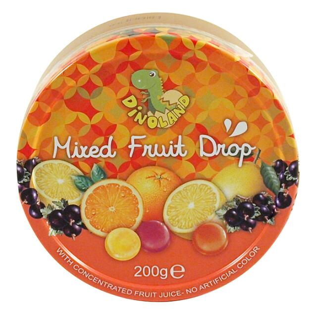 迪諾恐龍家族綜合水果味糖果粒200g