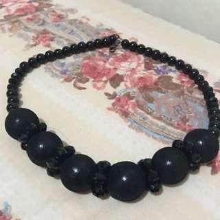 Vintage Black Pearl Necklace