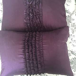 Urban Loft Ruffle Lumbar Purple pillows