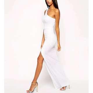ASOS Exclusive One Shoulder Maxi Bodycon Dress