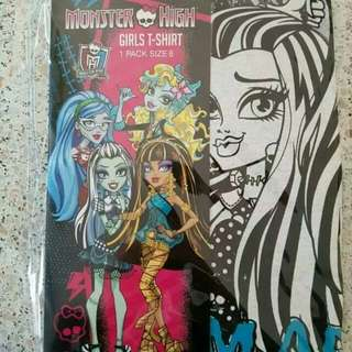 Brand new Monster High Kids 100% Cotton T-Shirts, available in 4 designs