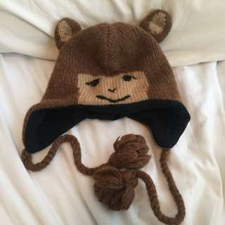 Warm monkey hat