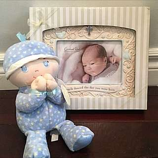 Baby Boy's Picture Frame And Toy