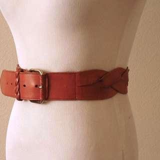 Vintage 1970s Braided Leather Belt