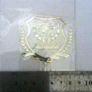 Decorative Thin metal Sticker Garson