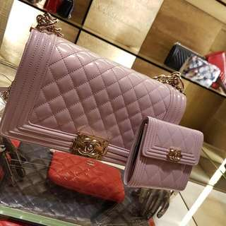 BNIB Lilac Chanel Boy New Medium