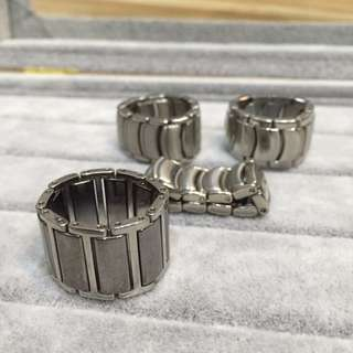 Handcrafted Watch Bracelet Stainless Steel Ring