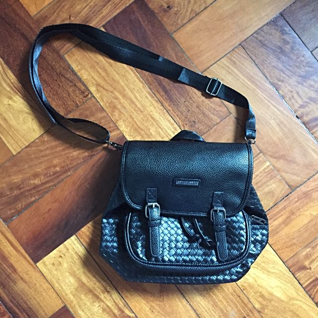 2 Way Leather Bag (Sling And Backpack)