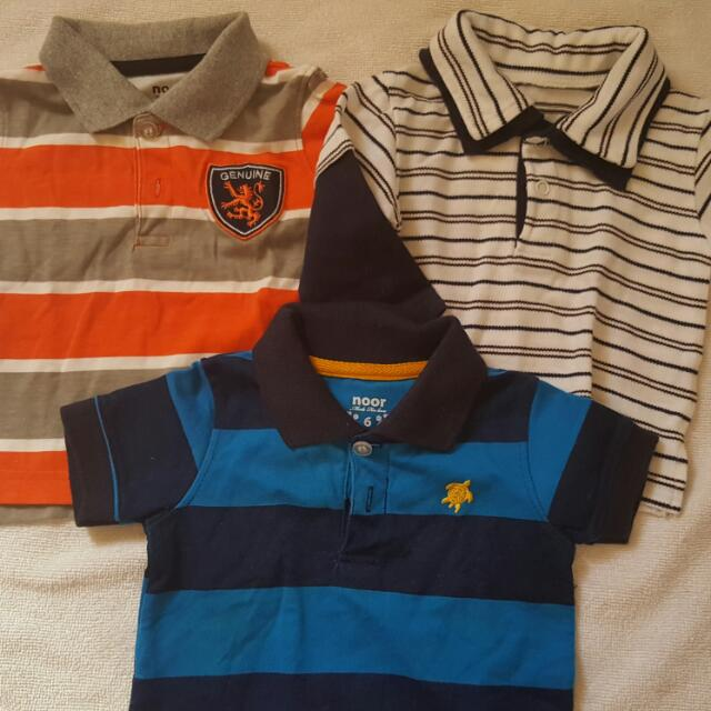 3 Polo Shirts (FOR 0-6MONTHS)