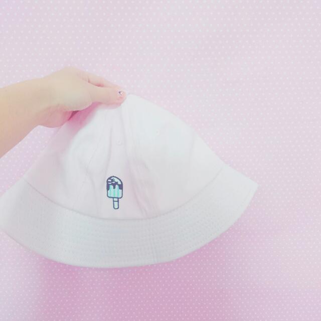 全新✨粉紅色冰淇淋漁夫帽